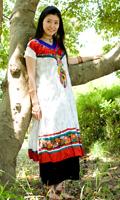 大きな刺繍のゴージャスクルティの個別写真