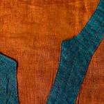 半袖コットンロングカシュクール 黄茶の個別写真