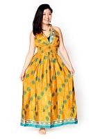 オールドサリーマキシワンピース - 黄色・オレンジ系の個別写真
