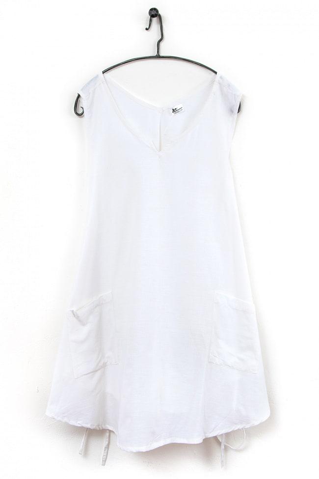 インド綿のシンプルエプロンワンピースの選択用写真