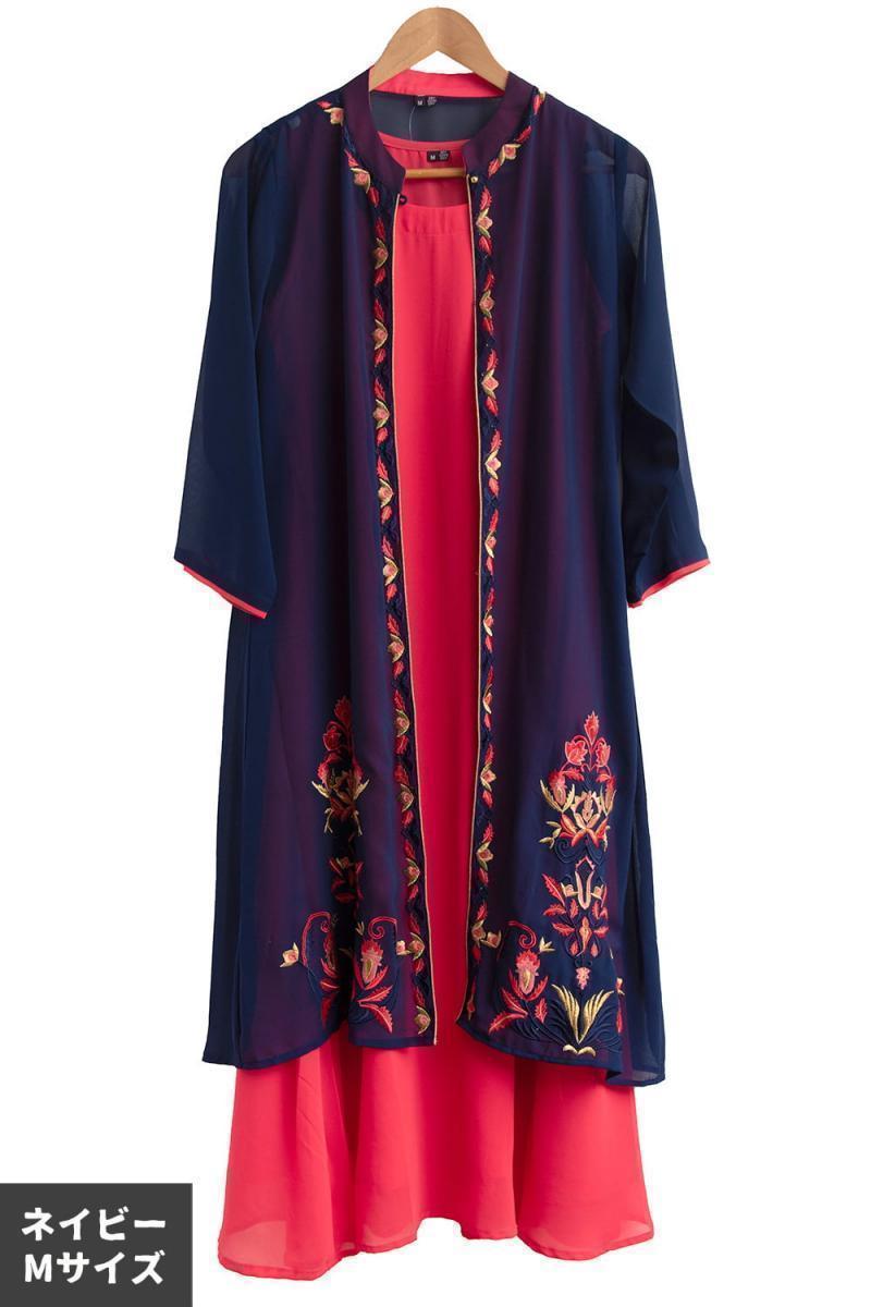 オーガンジーの刺繍ワンピースの個別写真