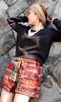 ネパールふわふわ起毛のショートパンツの個別写真