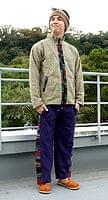 ネパールのフリースロングパンツ 【濃紫】の個別写真