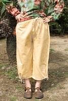 ストーンウォッシュの八分丈パンツ 【キャメルベージュ】の個別写真