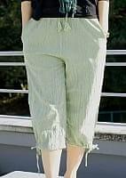 ストーンウォッシュの八分丈パンツ 【アイスグリーン】の個別写真