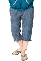 ストーンウォッシュの八分丈パンツ 【ダークブルー】の個別写真