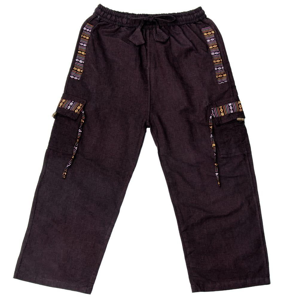 エスニック刺繍 4ポケットカーゴパンツの個別写真