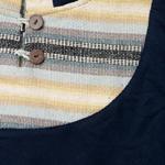 エスニック布とウッドボタンのパーカーの個別写真