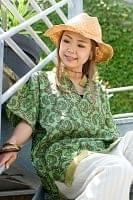 オールドサリーの半袖プルオーバーシャツ 緑系の個別写真