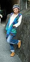 タイダイレーヨンサラサラベスト 【水色】の個別写真
