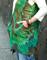 タイダイレーヨンサラサラベスト 【緑・茶】の個別写真