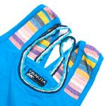 ネパールの手織り布がワンポイント!シンプルタンクトップの個別写真