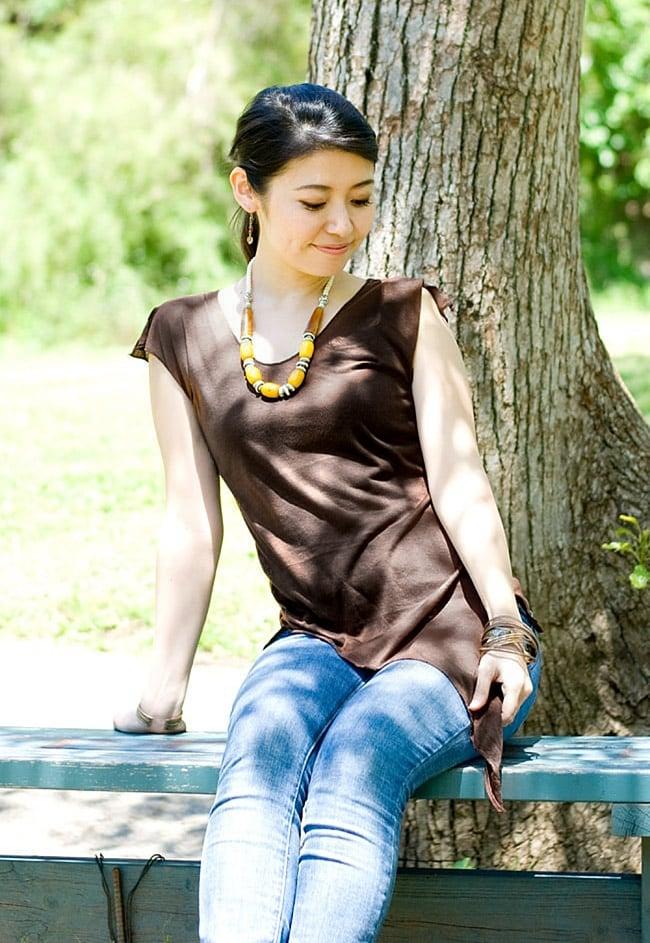 トライバル・アシンメトリーTシャツの個別写真