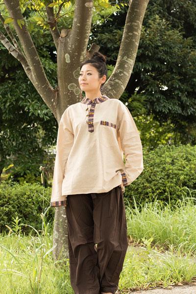 ブータン織 コットンクルタの個別写真