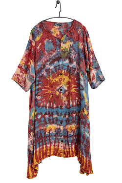 ラムナミタイダイロングシャツの個別写真