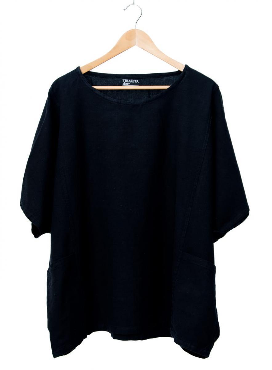 ゆったり着れるシンプルプルオーバーの個別写真