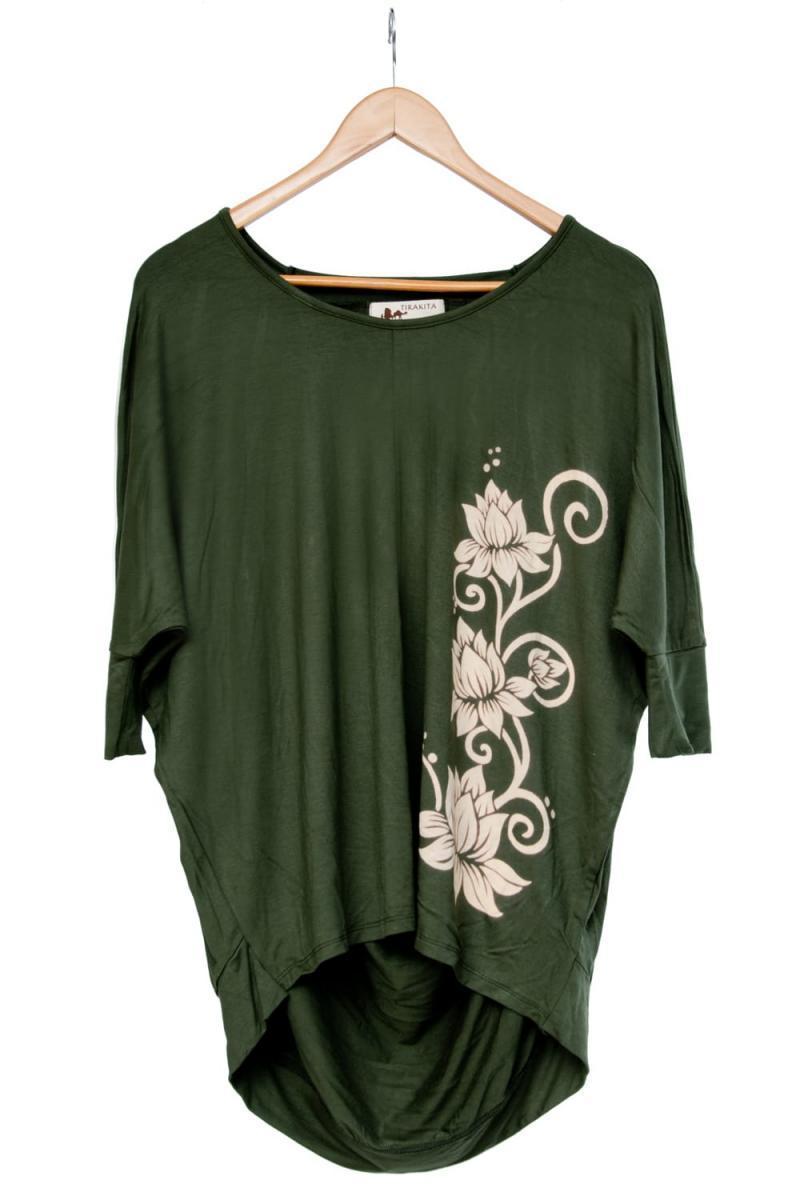 ロータスプリントストレッチ バルーンTシャツの個別写真