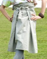 シンプルコットンのタイスカート 【ショート】の個別写真