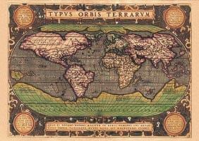 【16世紀】アンティーク地図ポスター[TYPVS ORBIS TERRARVM]【世界地図】