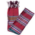 ベトナム ターイ族の伝統手織りスカーフ・デコレーション布の個別写真