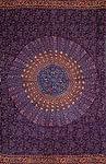 ウッドブロックのデコーレーション布 - 赤紫