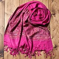 〔200cm×70cm〕インド更紗 伝統チンツ柄ストール - ピンクの個別写真