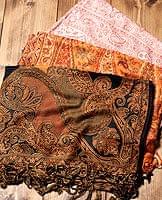 〔200cm×70cm〕インド更紗 伝統チンツ柄ストール - オレンジ系アソートの個別写真