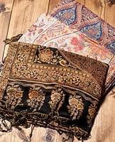 〔200cm×70cm〕インド更紗 伝統チンツ柄ストール - ブラウン系アソートの個別写真