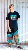 タイダイレーヨンアラジンパンツ 【黒×グレー】の個別写真