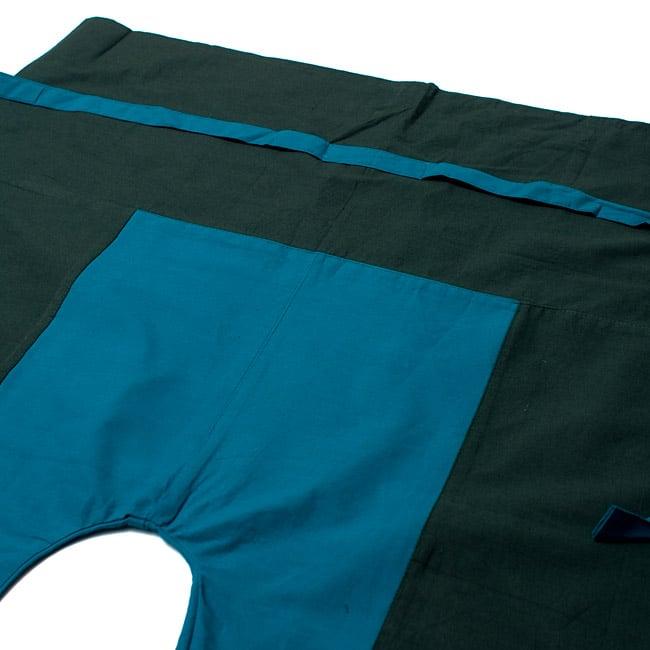 バイカラーのコットンタイパンツ-ショート - 【カーキ・ブルー】の写真2-しっかりした縫製なのでとても丈夫です。\