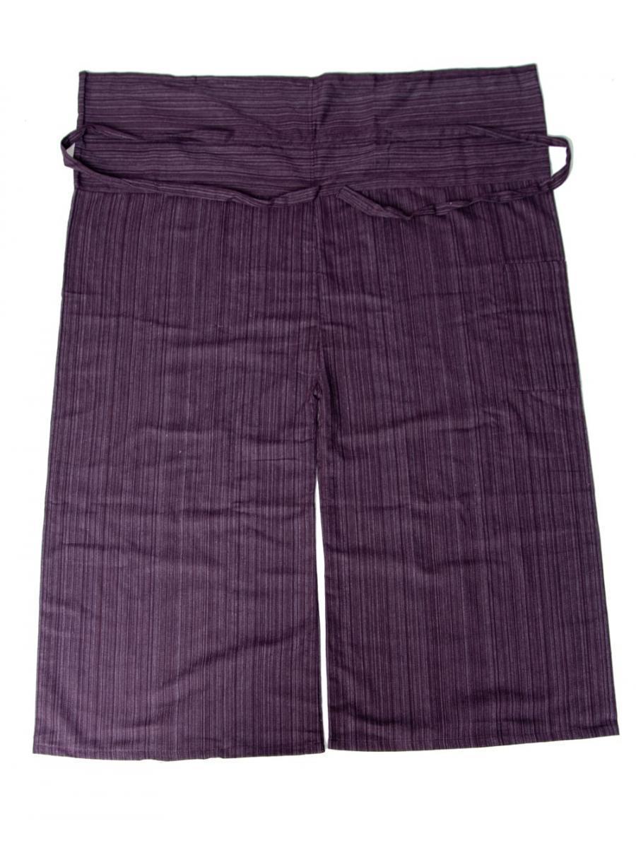 ストライプ織りのコットンタイパンツの個別写真