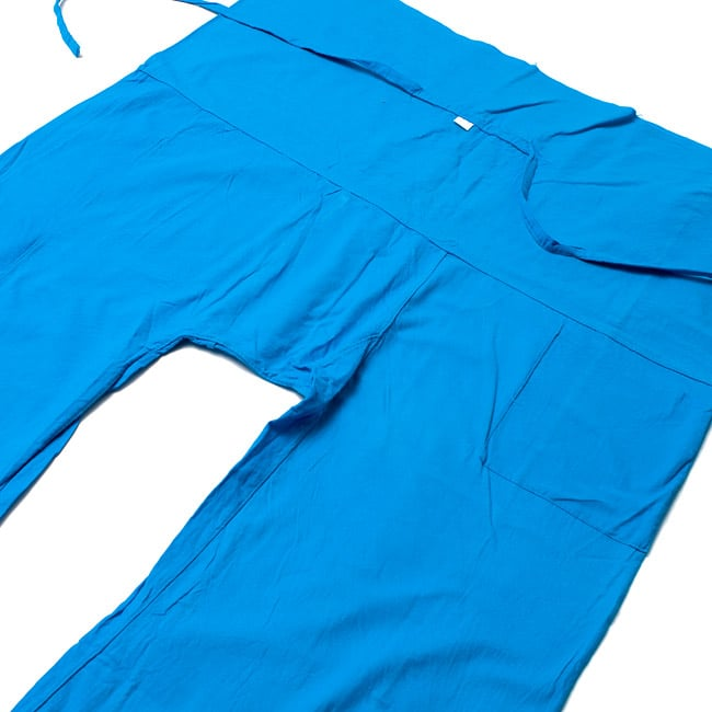 シンプルコットンタイパンツ 【水色】2-しっかりした縫製でとても丈夫に作られています。\