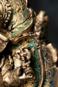 リーフガネーシャ ゴールド[10.5cm]の個別写真