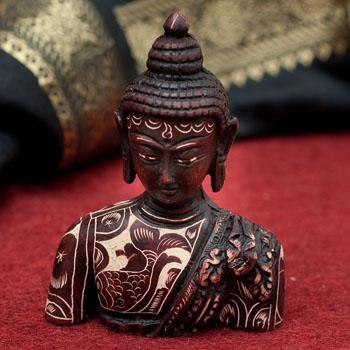 手彫り模様の半身ブッダ像[10cm]の選択用写真