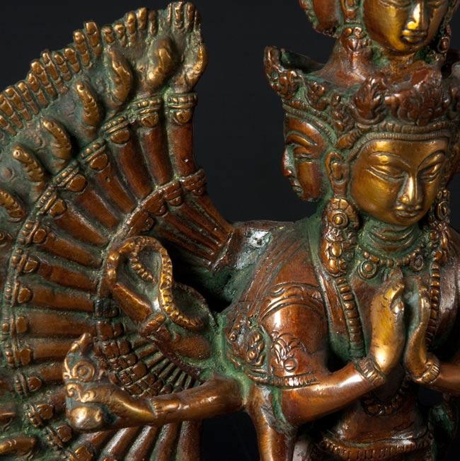 エーカダーシャムカ・アヴァローキテーシュヴァラ - 十一面観音菩薩[36cm]の写真2-お顔の部分のアップです\