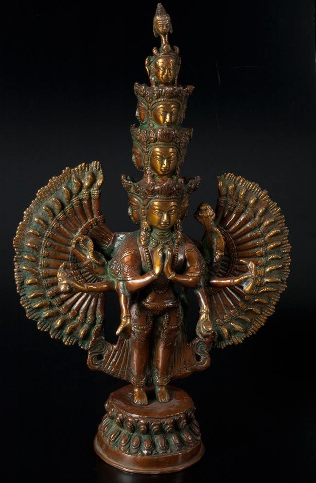 エーカダーシャムカ・アヴァローキテーシュヴァラ - 十一面観音菩薩[36cm]の写真
