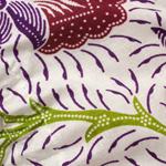 アタかご 巾着バッグ  ココナッツボタン付き 発祥の地トゥガナン村で手作り【約13cm x 27cm】の個別写真