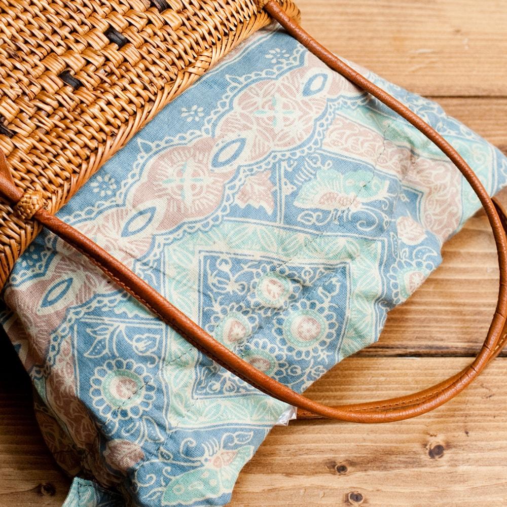 アタかご巾着バッグ 発祥の地トゥガナン村で手作りの個別写真