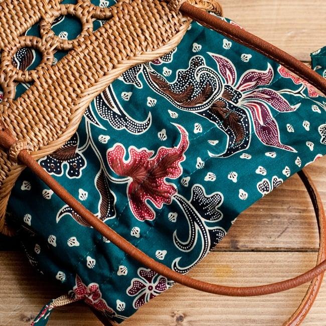 アタかご 巾着バッグ ココナッツボタン付き 発祥の地トゥガナン村で手作り【約19cm x 19.5cm】の選択用写真