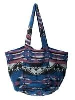 ネパールの機織りショルダーバッグ ブルー系