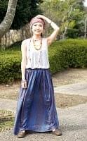 ラムナミフレアースカート(ロング丈) - ブルーグレーの個別写真