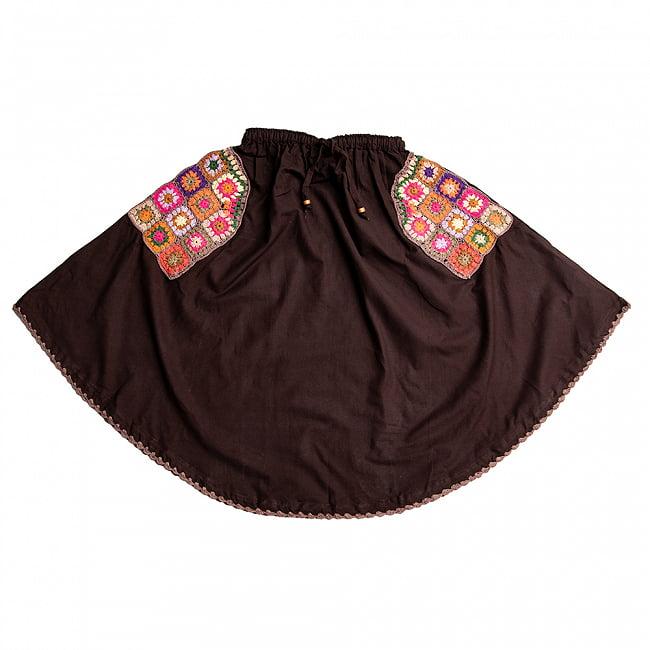 フラワー刺繍のコットンフレアスカートの選択用写真