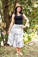ラムナミフェアリー巻きスカート ホワイトの個別写真