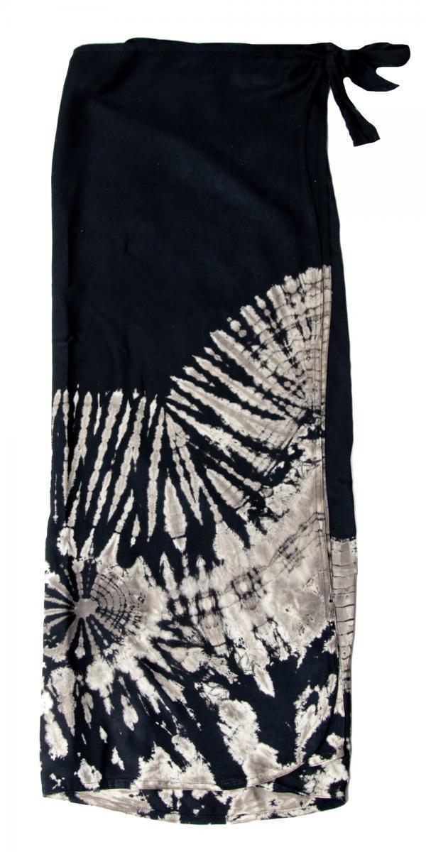 タイダイレーヨン巻きスカートの個別写真