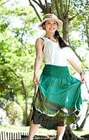 4通り楽しめる! タイダイロングスカート 【グリーン系】の個別写真