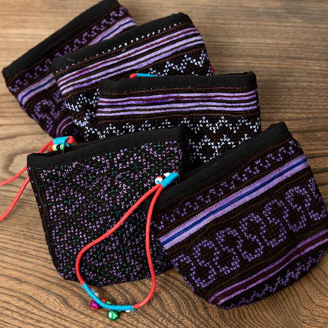 モン族の古布を使ったストラップ付き小物ケースの選択用写真