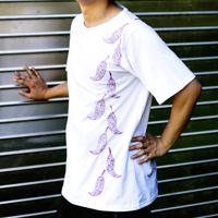 トウガラシ ウッドブロックプリントTシャツの個別写真