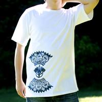 ガネーシャのひかり ウッドブロックプリントTシャツの個別写真