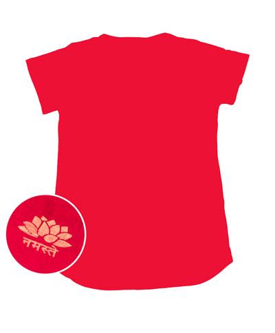 ロータス ラウンドTシャツヨガやフィットネスにの個別写真