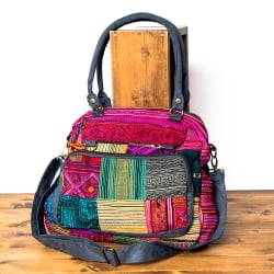 モン族刺繍の2WAYショルダーバッグの個別写真
